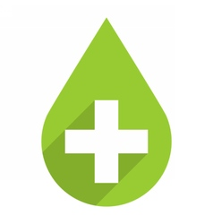 Green drop icon first aid sign vector