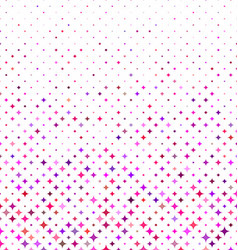 Multicolored abstract curved star pattern design vector image