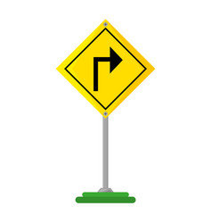 arrows guide traffic signal vector image
