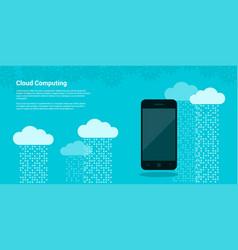Cloud computing banner vector