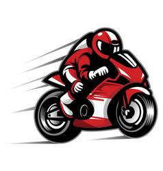 motorcycle race vector image