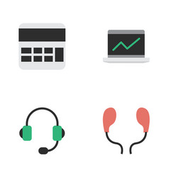 Set of simple instrument icons vector