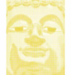 halftone buddha vector image