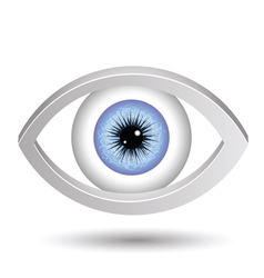 Blue female eye vector
