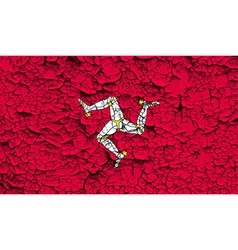 Flag isle of man with old texture vector