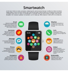 Smartwatch flat design vector