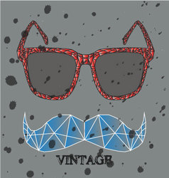 Glasses abstract feel like a diamond when the rain vector