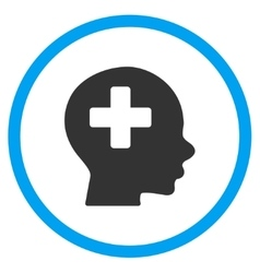 Head medicine rounded icon vector