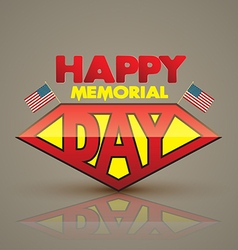 Happy memorial day superman style vector