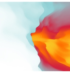 The fire with smoke abstract background vector