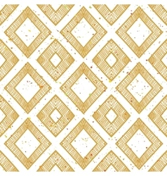 Hand drawn rhomb beige seamless pattern vector