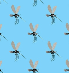 Mosquito seamless pattern texture of the insects vector