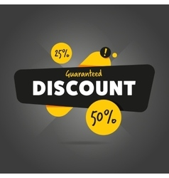 Guaranteed discount advertisement promo banner vector