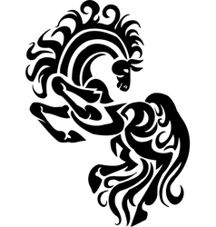 Horse in tribal style - vector