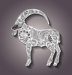 Artistic goat design vector