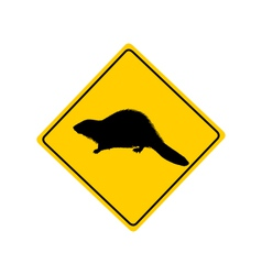 Beaver warning sign vector
