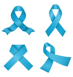Blue awareness ribbons vector image