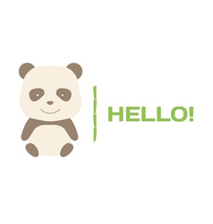 Brown panda logo vector image