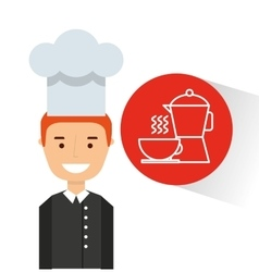 Chef avatar cooking food icon vector