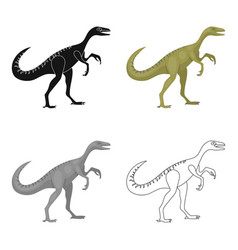 dinosaur gallimimus icon in cartoon style isolated vector image vector image