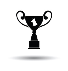 Dog prize cup icon vector image vector image