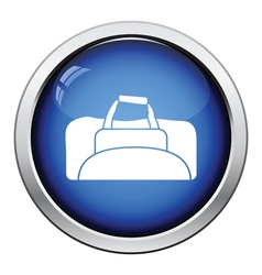 Fitness bag icon vector