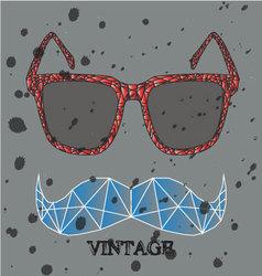 Glasses abstract Feel like a diamond When the rain vector image vector image