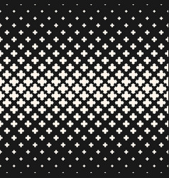 halftone texture seamless pattern with crosses vector image vector image