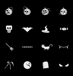 halloween mobile icons vector image vector image