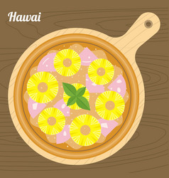hawai pizza vector image