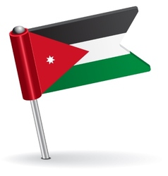 Jordan pin icon flag vector image vector image
