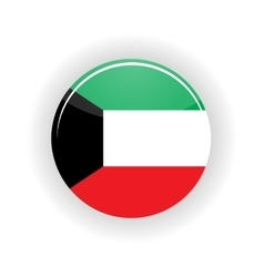 Kuwait icon circle vector