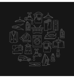 Laundry Design Elements vector image