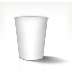 Mock up of realistic paper cup in front view vector