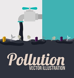 Pollution design over white and blue background vector