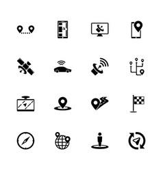 Satelite - flat icons vector
