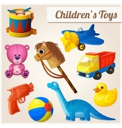 Set of kids toys vector