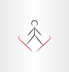 Ski jump icon vector