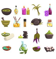 spa salon and body care design elements set oil vector image