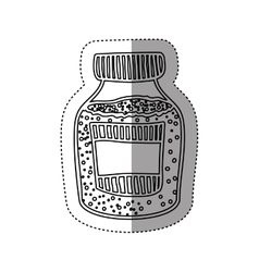 Sticker silhouette bottle with salt and pepper vector