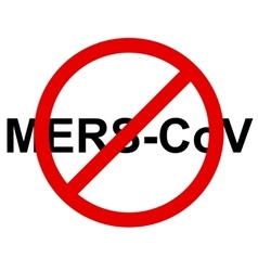 Stop mers corona virus sign vector