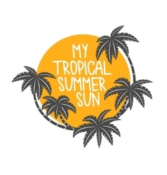 Tropical summer time vector image