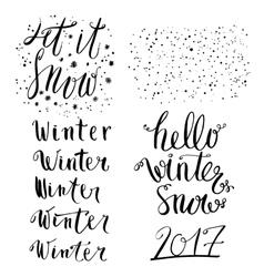 Winter lettering set vector image vector image