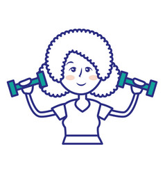 Women fitness cartoon vector