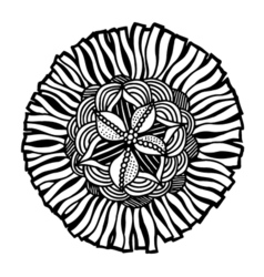Hand drawn doodle flower vector