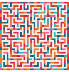 Labyrinth pink orange blue maze square on vector