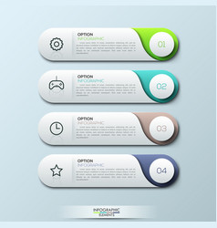Infographic design template with 4 separate vector