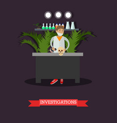 Archaeological investigations concept vector