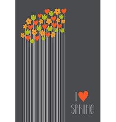 I love spring vector