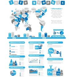 Infographic demographics toy blue vector